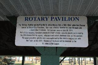 Rotary Pavilion Sign